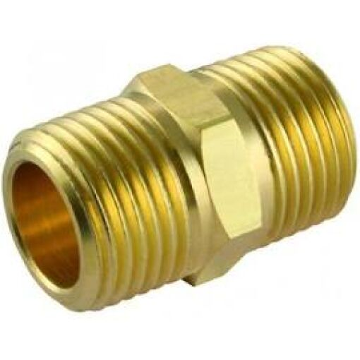 "B Hex Nipple 1/4"" Brass - Chiefs Australia"