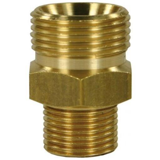 Quick Screw Nipple M22M:3/8M (29mm) Brass - Chiefs Australia
